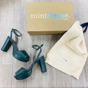 MINT & ROSE $278 Designer Arlena High Selwin Heels